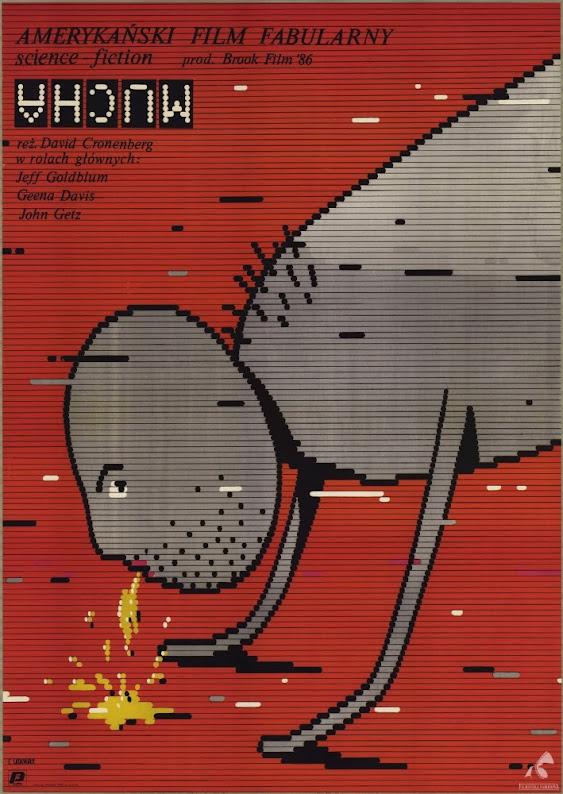 Polski plakat filmu Mucha