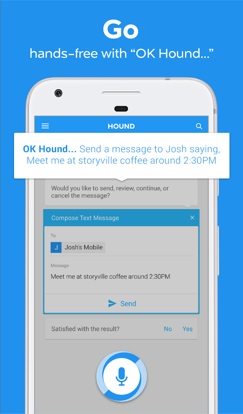HOUND Voice Search & Mobile Assistant Screenshot 2