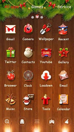Merry Christmas Go Launcher Theme screenshot 4