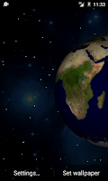 Screenshot of 3D Planets Live Wallpaper