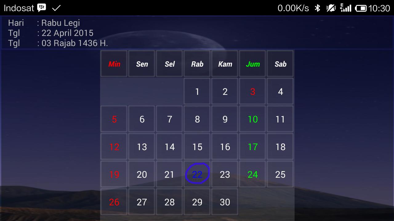 Kalender Hijriyah Jawa Apl Android Di Google Play