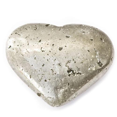 Pyrit, hjärta i olika storlekar