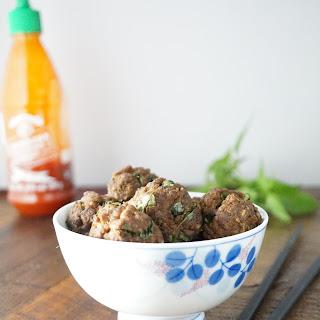 Thai Basil Meatballs.