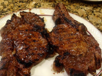 Fireman Bob's Marinated Smokey Rib Eye Steaks Recipe