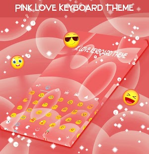 Pink Love Keyboard Téma - náhled