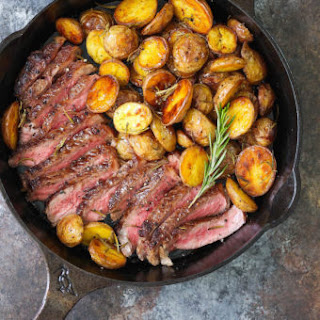 Skillet Steak with Rosemary Roasted Potatoes Recipe