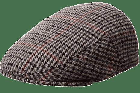 Norwich Country Cap grå/blå m. röd rand
