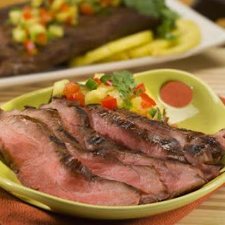 Teriyaki Flank Steak with Fresh Pineapple Salsa.