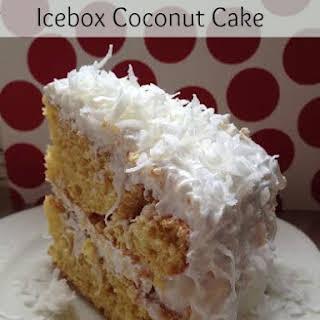 Icebox Coconut Cake.
