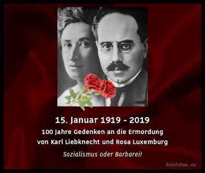 Porträts von Karl und Rosa.