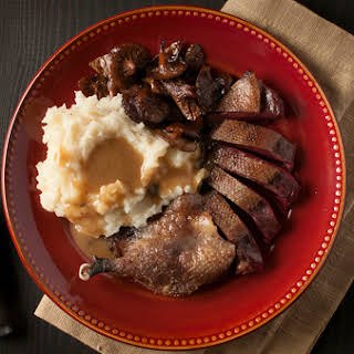 Duck with Maple Bourbon Gravy.