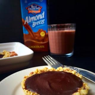 5-Ingredient No-Bake Chocolate Almond Tartlets {Vegan + GF}.