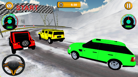 Offroad Jeep - Extreme Mountain Snow Driving APK screenshot thumbnail 1
