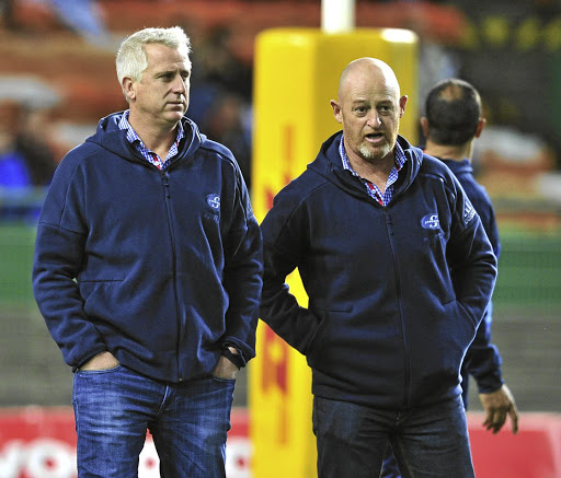 Planning for the future: Stormers head coach Robbie Fleck, left, and Paul Feeney, who has defended Fleck after a season in which the Stormers won just five games. Ryan Wilkisky/BackpagePix