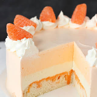 Orange Creamsicle Ice Cream Cake.