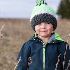 Farm hand by Cameron  Cleland - Babies & Children Child Portraits ( field, boy, portrait,  )