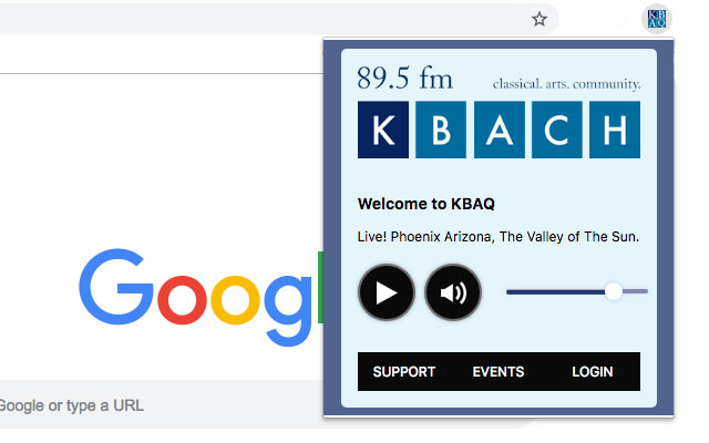 KBAQ Classical Music Player