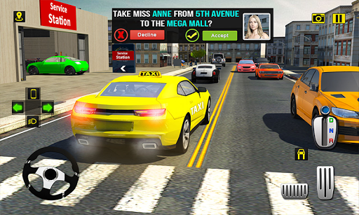 Rush Hour Taxi Cab Driver: NY City Cab Taxi Game 1.4 screenshots 1