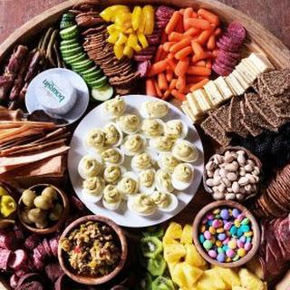 Easter Charcuterie Board Appetizer.