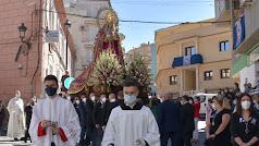Procesión de la Virgen del Rosario en Macael este 2021.