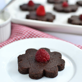 Gluten Free Raspberry Fudge Flowers