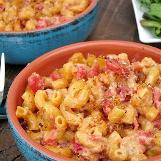 Tomato Macaroni and Cheese.