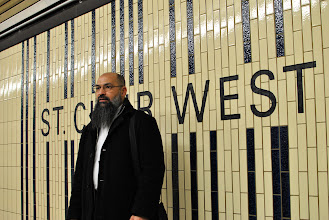 Photo: Mohammad Mahjoub at St. Clair West subway station in Toronto, near his residence.