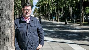 Rafael Esteban, portavoz de Izquierda Unida durante la entrevista.