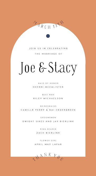 Joe & Stacy - Wedding template