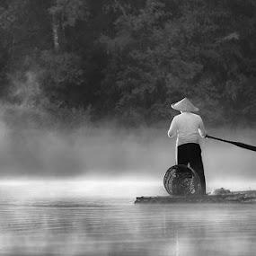 Morning Dew by Glenn Valentino - Black & White Portraits & People