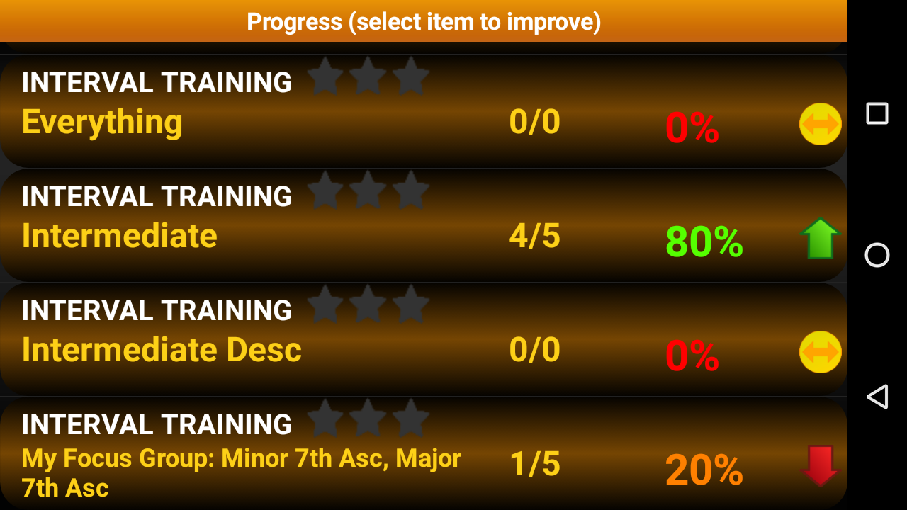 Piano Interval Training- screenshot