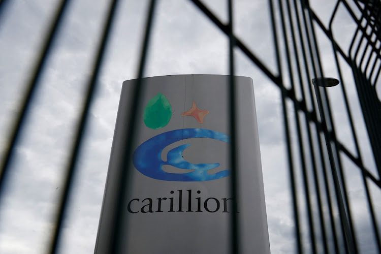 A Carillion sign in Manchester, Britain.  Picture: REUTERS