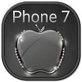 Black Crystal Apple for Phone 7 Theme