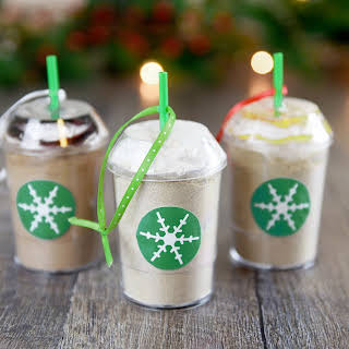 DIY Frozen Coffee Mix Ornaments.
