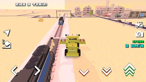 Blocky Farm Racing & Simulator - free driving game screenshots 7