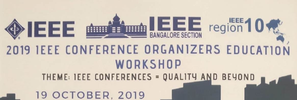 IEEE Conference Organizers Education Workshop 19