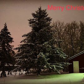 Christmas on the Homestead  by Eric Wagner - Typography Captioned Photos