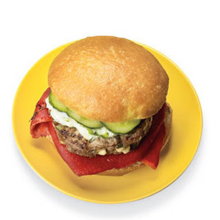 Greek Feta Beef Burger