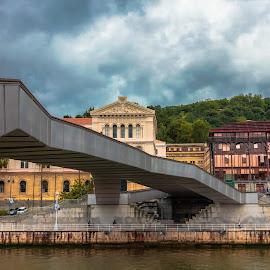 puente y universidad de Deusto, Bilbao by -. Phœnix .- - Buildings & Architecture Bridges & Suspended Structures ( universidad de deusto, puente, bilbao, bridge )