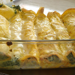 Cannelloni with Spinach and No Pasta!
