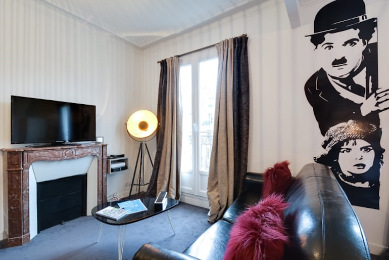 Boulevard Serviced Apartment, Saint Germain living room