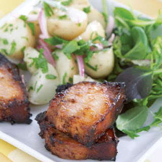 Honey Mustard Pork with Potato Salad