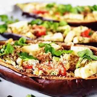 Stuffed Eggplant Boats.
