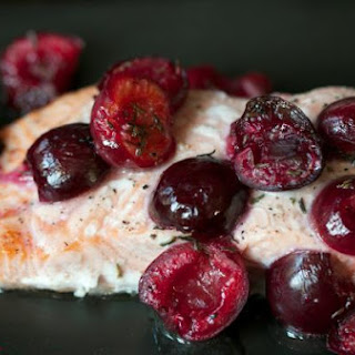 Roasted Alaskan Salmon with Cherries