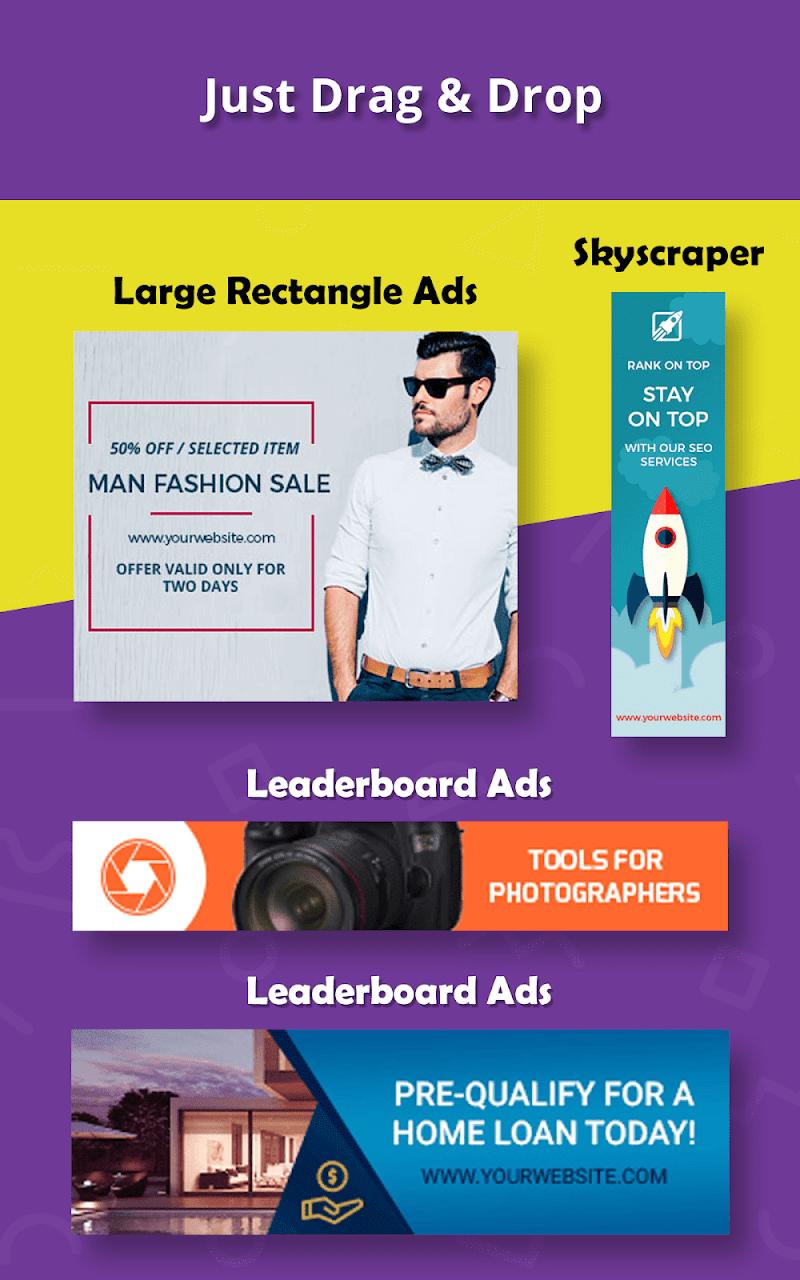 Banner Maker, Ad Maker, Web Banners, Graphic Art Screenshot 17