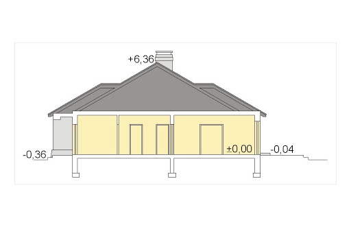 Mila IV energo+ wersja A z pojedynczym garażem - Przekrój