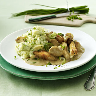 Chicken in Mushroom Sauce with Herby Mashed Potatoes.