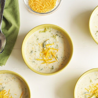 Slow Cooker Broccoli Cheddar Soup.
