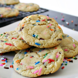 Cake Batter Funfetti Cookies