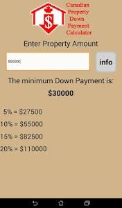 CDN Property Down Payment Calc screenshot 4